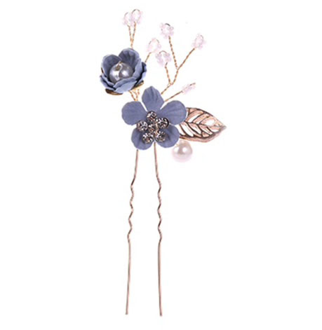 floral hair pins jewels wedding day