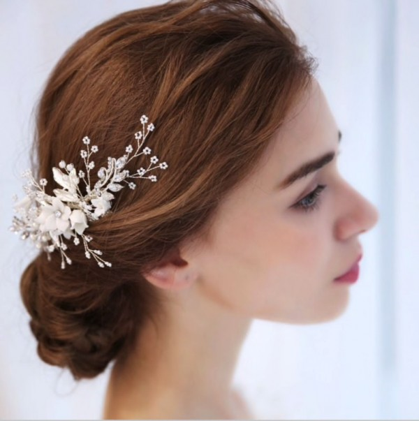 brides jewel head pieces white