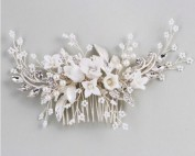 white jewelled bridal comb
