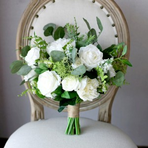 fake flower bouquet wedding white