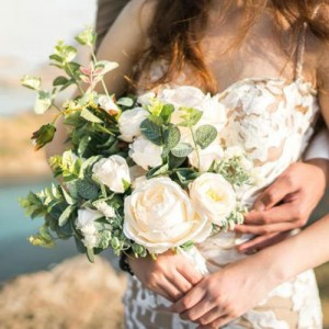 silk bouquet boho wedding