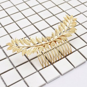 hair gold leaves accessory