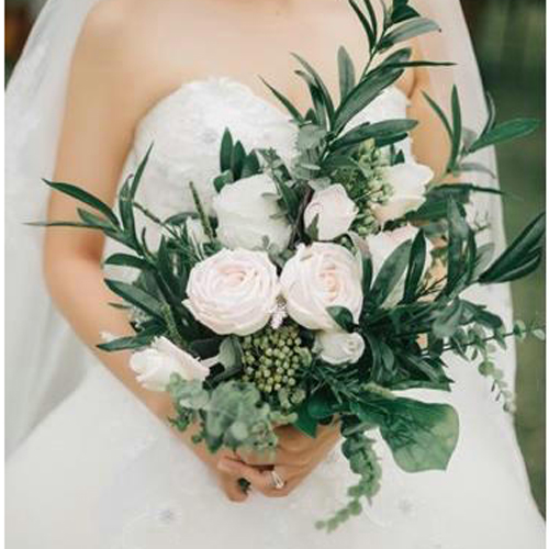 artificial boho wedding bouquet