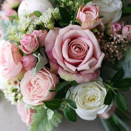 blush silk artificial flower bouquet