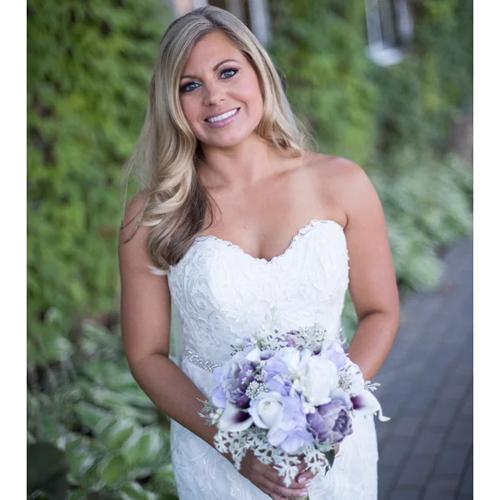 flower bouquet purple bride