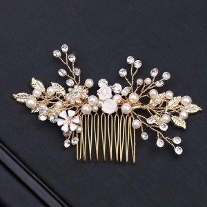 gold bride hair pins
