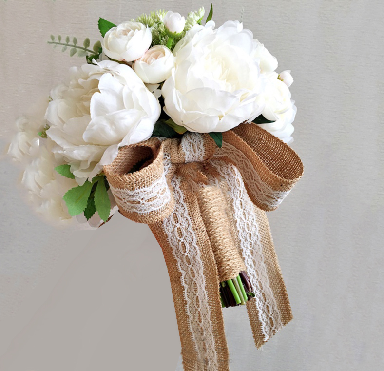 wedding ivory flowers artificial