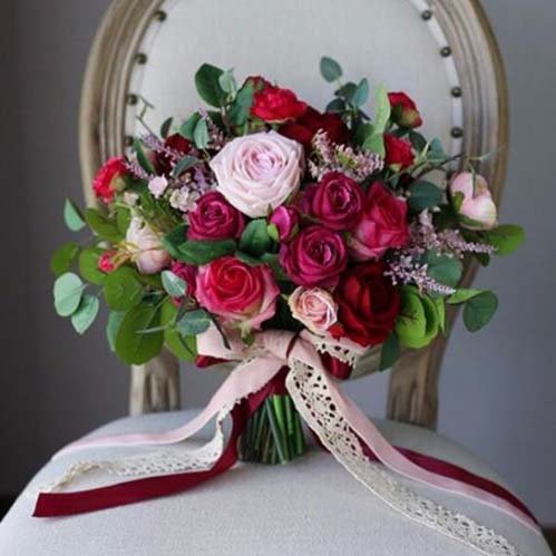 bridal bouquet silk australia
