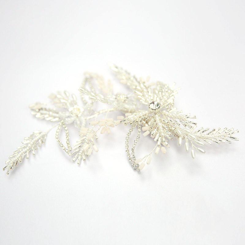 wedding white hair piece