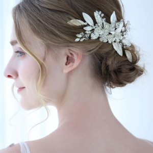 wedding white hair clips