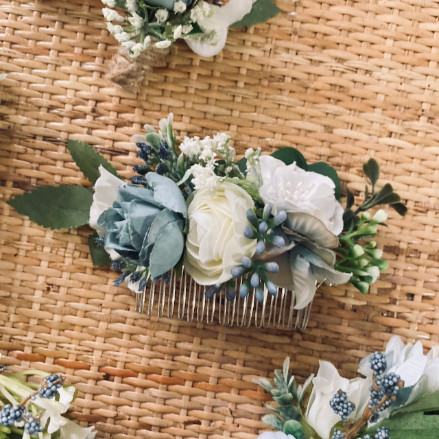 custom made wedding bride hair comb