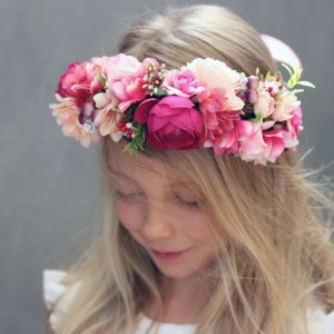 party halo floral pink