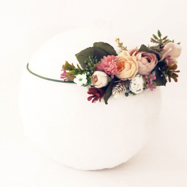 bride autumn wedding headpiece