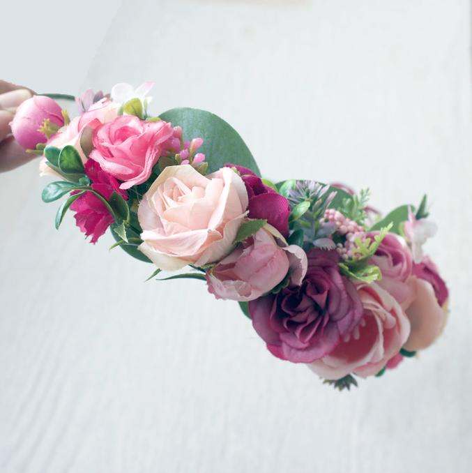 party headband flowers
