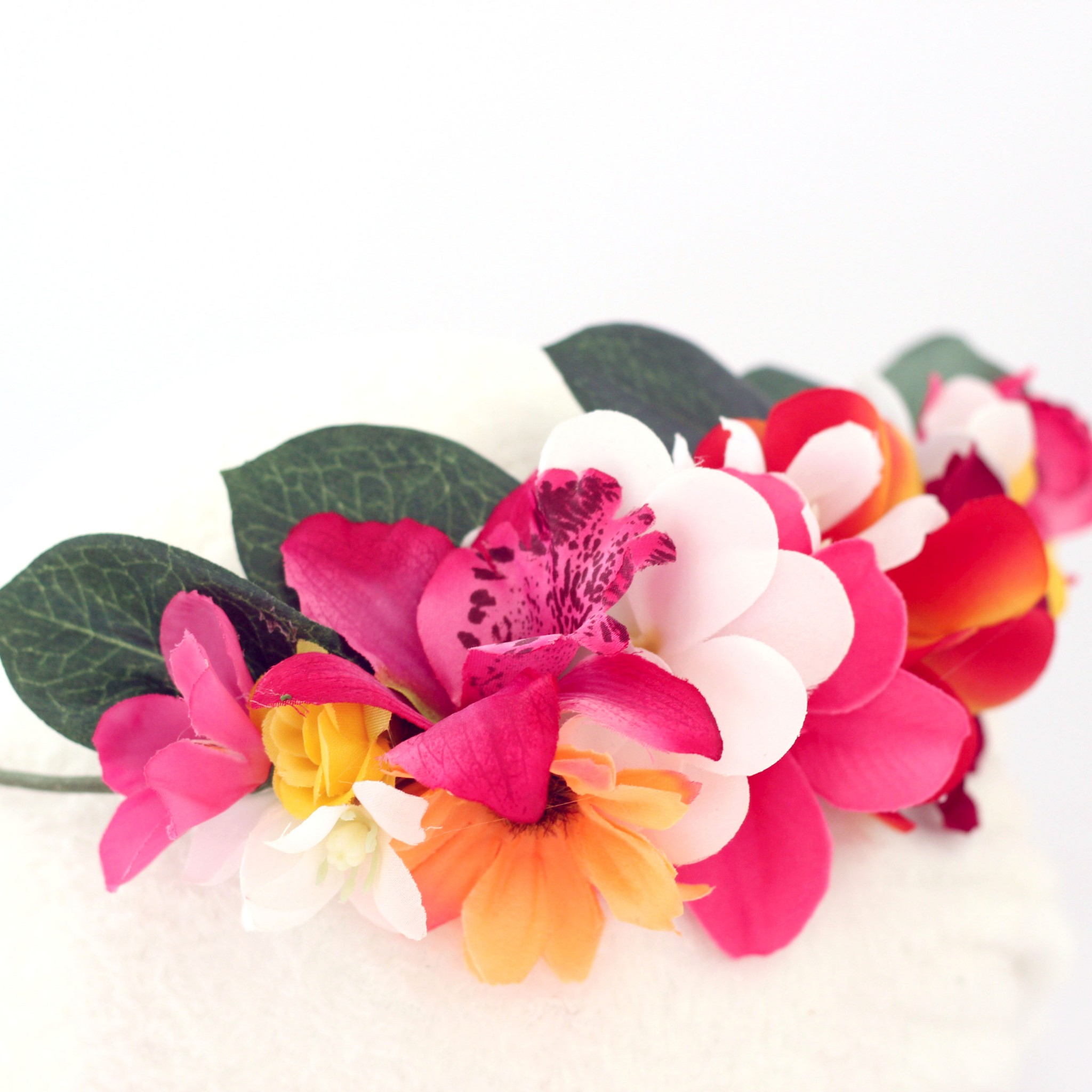 Mexican party summer flower headpiece