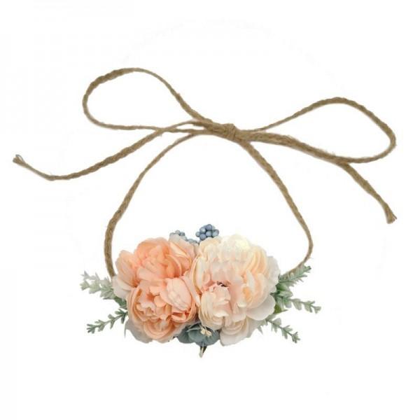 pretty hair flowers peach
