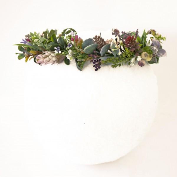 leafy twig fake flower crown