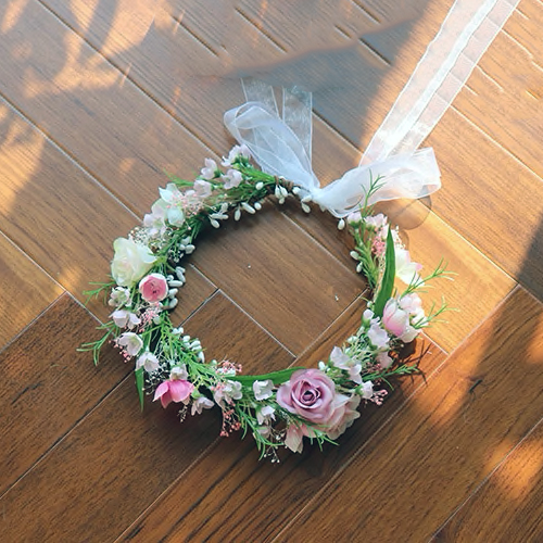 floral headpiece fake flowers