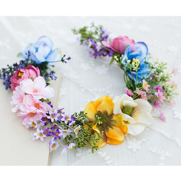 bright colours flower crowns