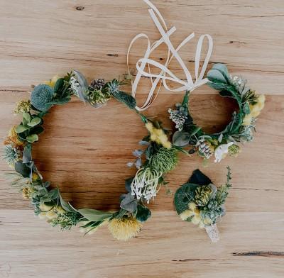 Melbourne handmade native wattle flower crowns
