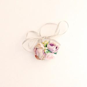 blush silk hair flowers