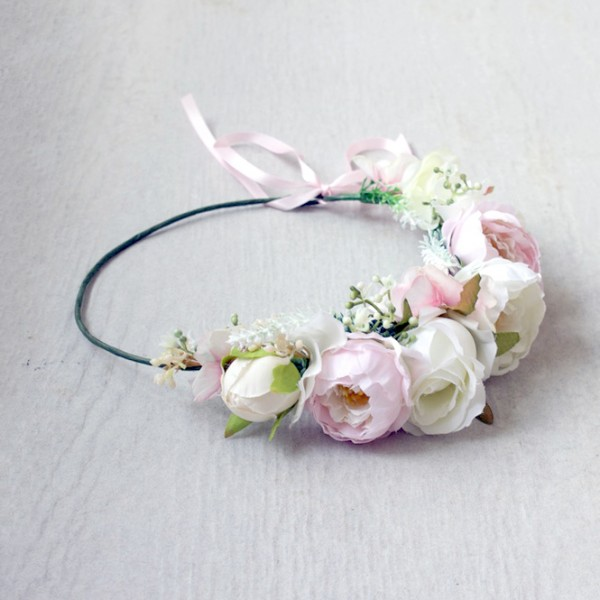 events pink floral crowns
