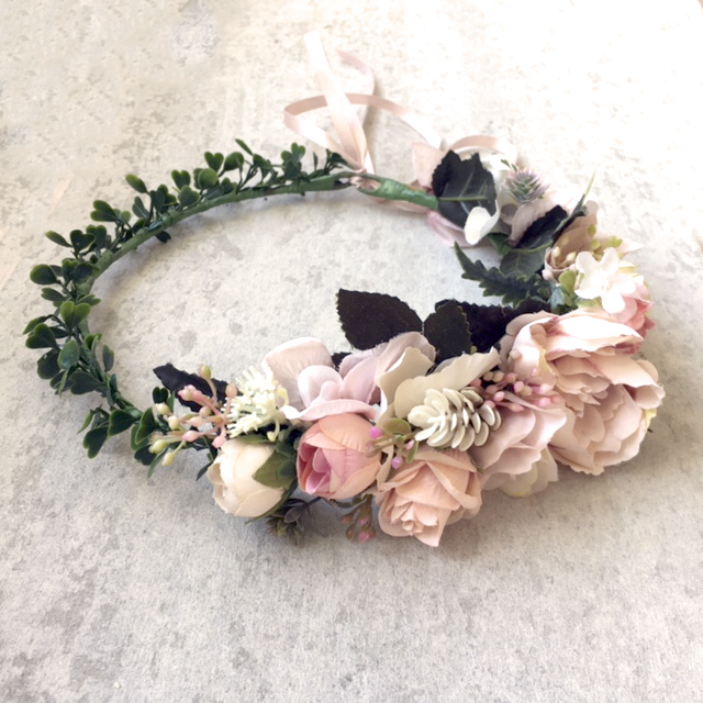 boho women's floral crown
