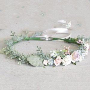 pastel flower headband