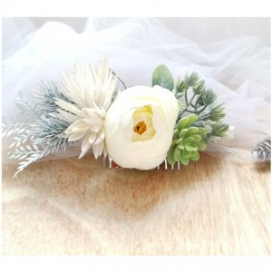 brides flower hair comb
