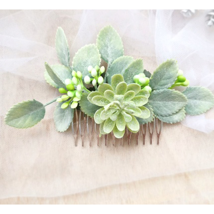 leafy hair comb