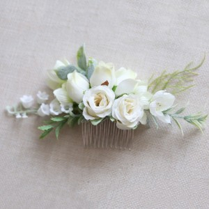 white flowers in hair