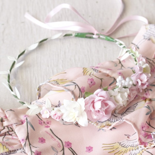 pink white kids headbands
