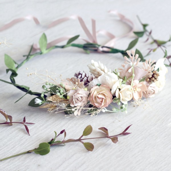 woodland flower crown