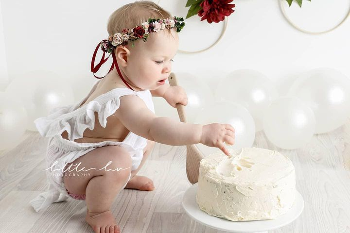 1st birthday burgundy floral halo headband