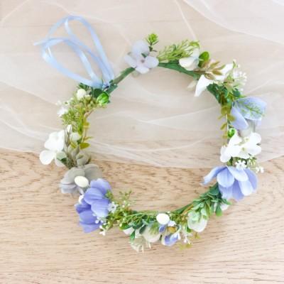 baby shower blue headband flowers