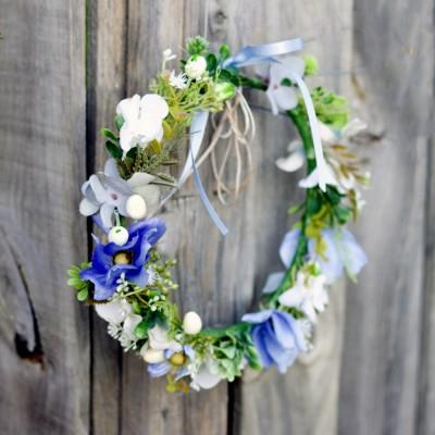 wild flower boho blue headband