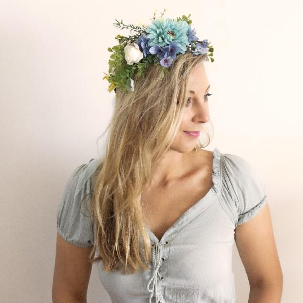 blue hair flowers
