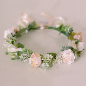 faux hair flower crown