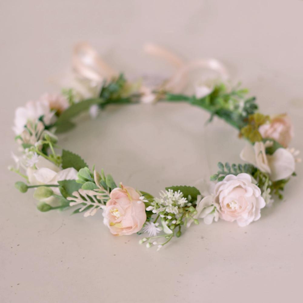 faux hair flower crown