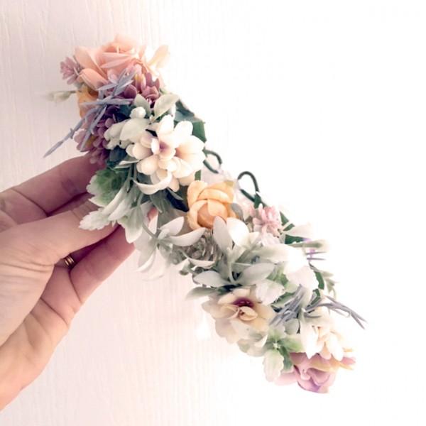 pale pastel floral crowns