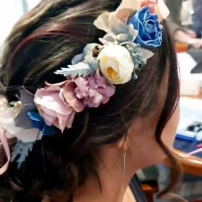 silk bridal party floral crowns