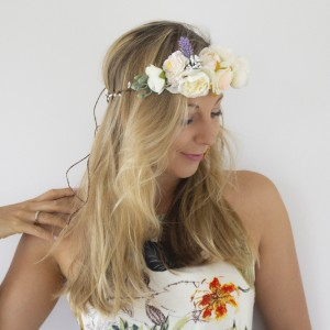 ivory silk flowers hair