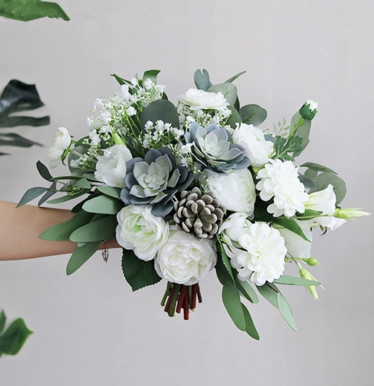wedding fake flower bouquet