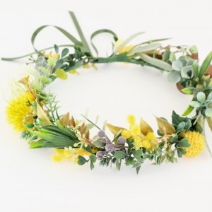 yellow native floral hair crown