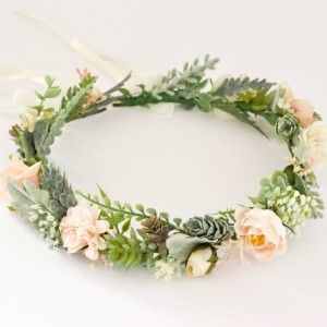 bride artificial floral crown