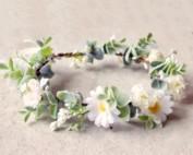 daisy silk flower crown