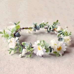 daisy silk flower crown