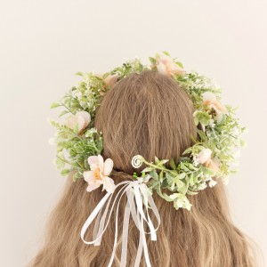 wedding bridal floral crown