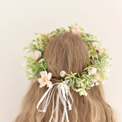 wedding bridal floral crown