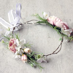 wedding party flower crowns